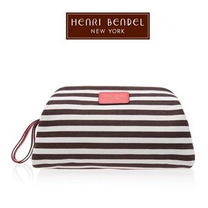 Henri Bendel Signature Stripe Canvas Dupp Kit
